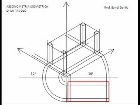 Assonometria isometrica tavolo - YouTube