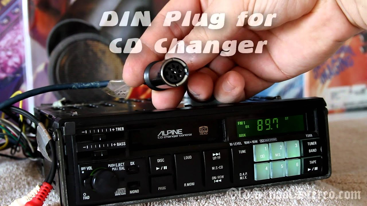 vintage old school alpine 7288 pull out cassette radio cd changer controller 1080p [ 1280 x 720 Pixel ]