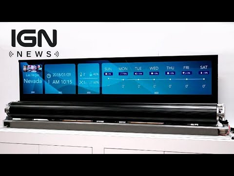 CES 2018: LG Shows Off TV That Rolls Up Like a Poster - IGN News