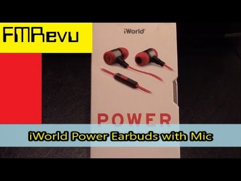 962a3b4a194 iWorld Power Earbuds with Mic EPW-1040 - YouTube