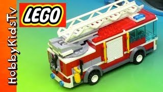 Lego City Fire Truck - Box Opening, Build And Play (60002)