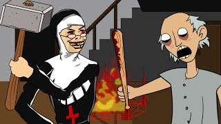 GRANNY THE HORROR GAME ANIMATION #20 : EVIL NUN Vs Scary Granny