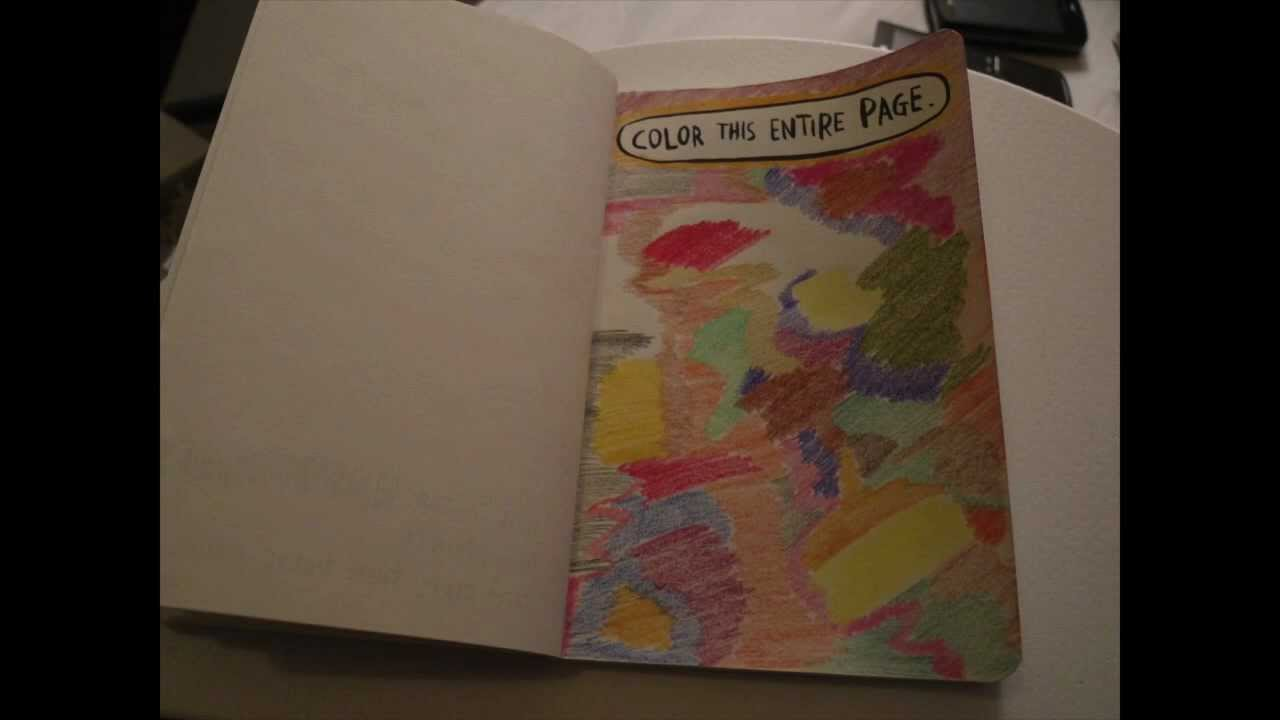 Wreck This Journal Color This Entire Page Youtube