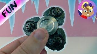 Zmrazený fidget spinner?! Bude se točit? Experiment