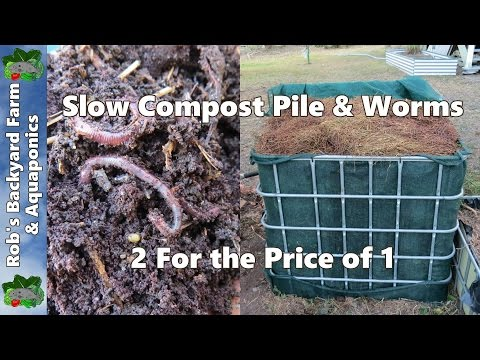 Slow compost pile & compost worm farm, 2 for the price of 1..