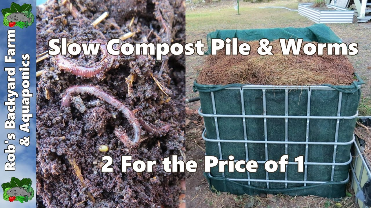 slow compost pile u0026 compost worm farm 2 for the price of 1