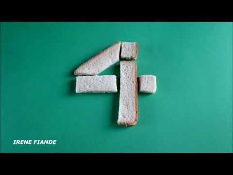 Как сделать цифры из бисквита
