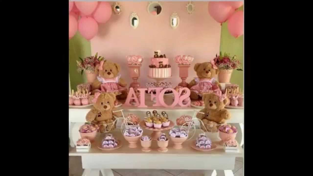 Pink And Brown Baby Shower Ideas Youtube