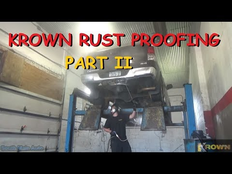Krown Rust Proofing - Part II The Application