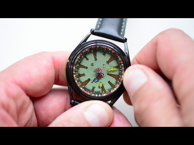 A perfectly useless morning watch designed by Kristof Devos for Mr Jones Watches