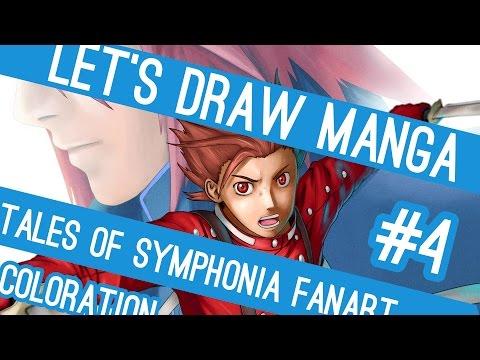 Let's Draw Manga #4 - Tales of Symphonia Fanart (Coloration)
