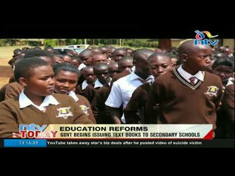 Kipsigis girls receives first batch of government text books
