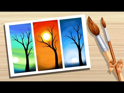 Autodesk Sketchbook Pro – Landscape Drawing – Sun Rise and set- Speed paint by Pallab Biswas