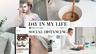 DAY IN MY LIFE VLOG: SOCIAL DISTANCING, CLEANING + SELF-CARE | Katie Musser