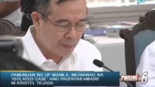 Pamunuan ng UP Manila, niliwanag na