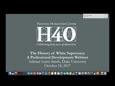 White Supremacy, An American History