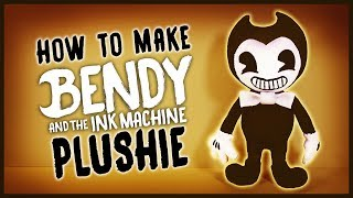 [REUPLOAD] DIY Bendy and the Ink Machine Sock Plushie! FREE PATTERN! BATIM Plush Tutorial