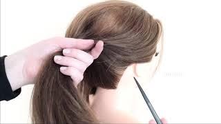 Быстрая Прическа которую легко сделать себе Простой пучок под платье Easy bun hairstyle