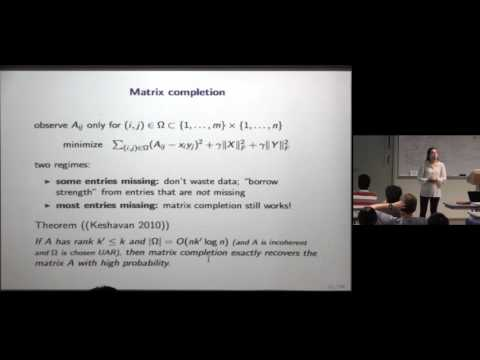 CAM Colloquium - Madeleine Udell: Generalized Low Rank Models: Algorithms and Applications