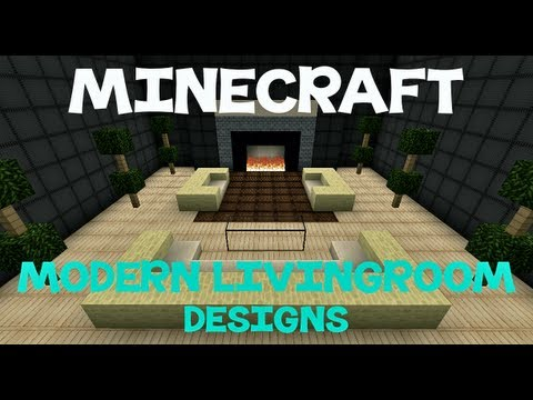 Minecraft modern living room designs youtube for 10 living room designs minecraft