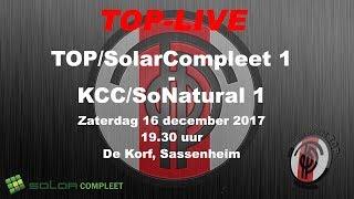 TOP/SolarCompleet 1 tegen KCC/SoNatural 1, zaterdag 16 december 2017
