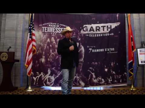 Garth Proclamation of 7 Diamond RIAA Certification by TN Gov. Bill Haslam 10 03 16
