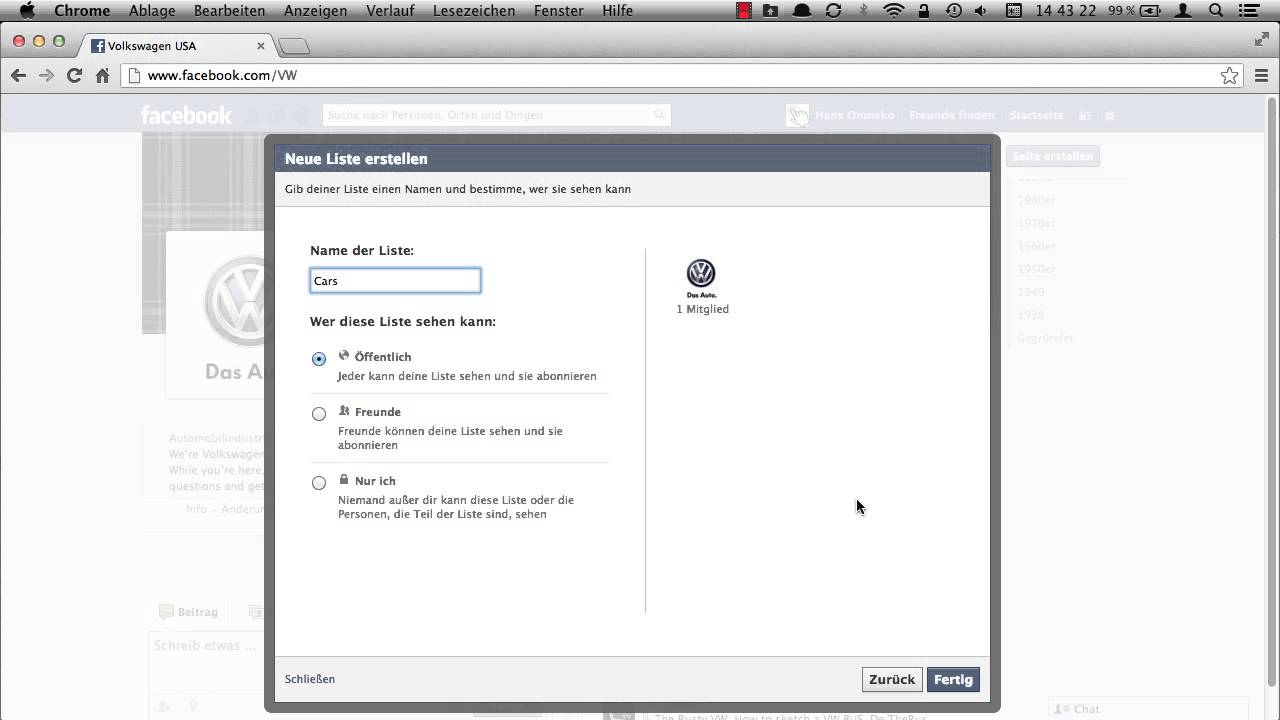 wie man Freunde auf Facebook gruppiert