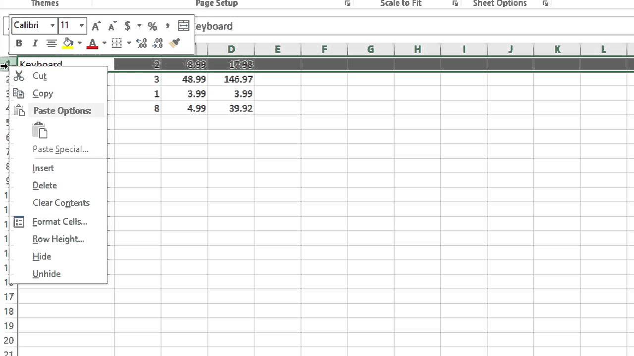 How To Put Titles In The Row Headers On Microsoft Excel