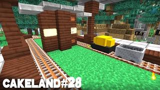 CakeLand FTB #28: Система Поездов и Автокрафты Ботании!
