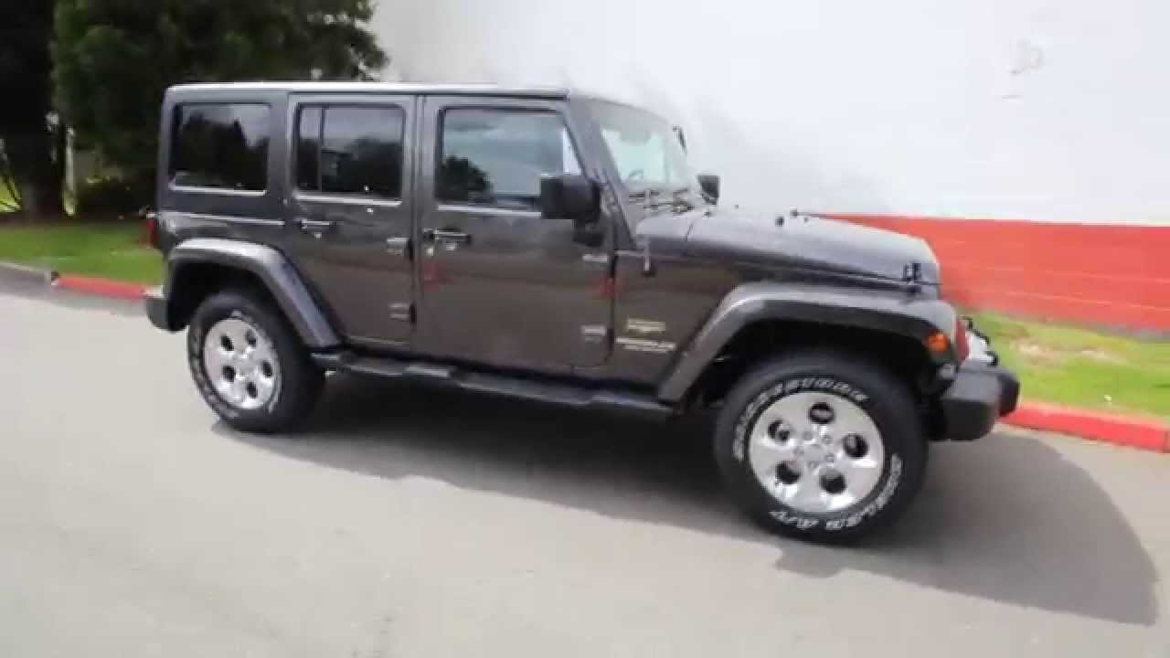 2014 jeep wrangler unlimited sahara granite crystal el246015 seattle bellevue youtube