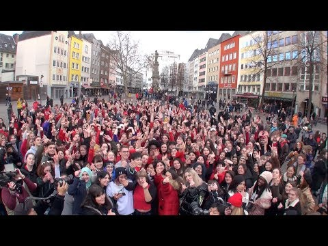 KPOP RANDOM PLAY DANCE in Koln,Germany with HISTORY OF KPOP, dress code RED