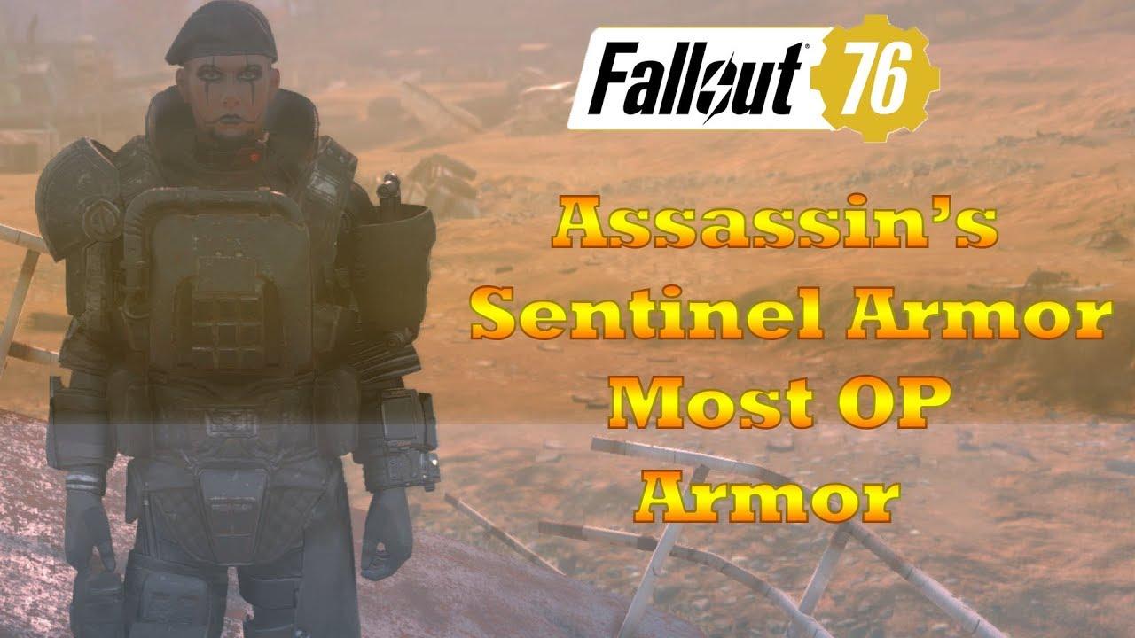 Fallout 76 Assassins Sentinel Armor Showcase (Best PVP Armor)