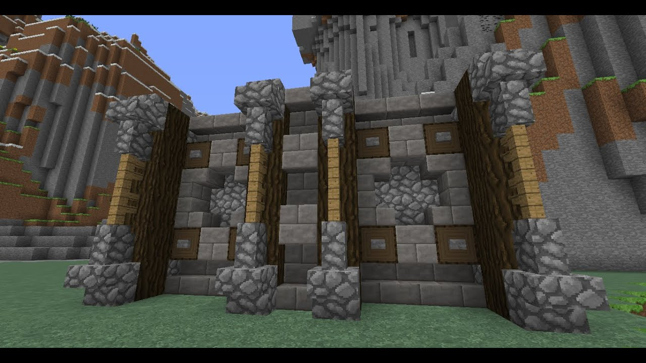 Minecraft medieval wall design tutorial 2 youtube for Interior wall designs minecraft