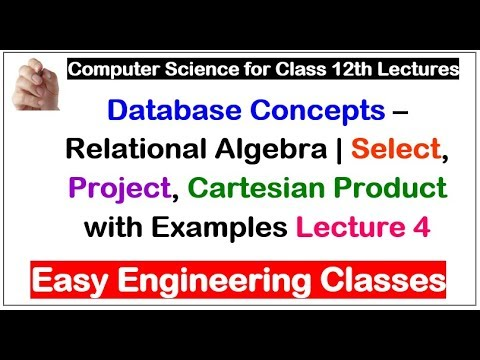 Database Concepts – Relational Algebra   Select, Project, Cartesian Product with Examples Lecture 4