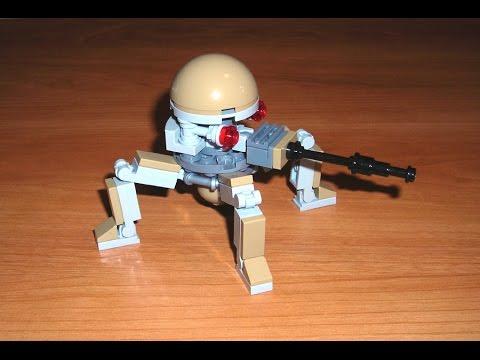 Let 39 s build dwarf spider droid lego star wars moc youtube - Lego star wars base droide ...