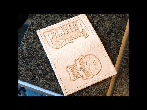 Custom Pantera wallet, happy birthday James!