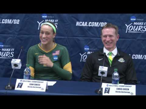 Alaska Anchorage post match press conference after 2016 NCAA DII Volleyball Quarterfinal No. 1