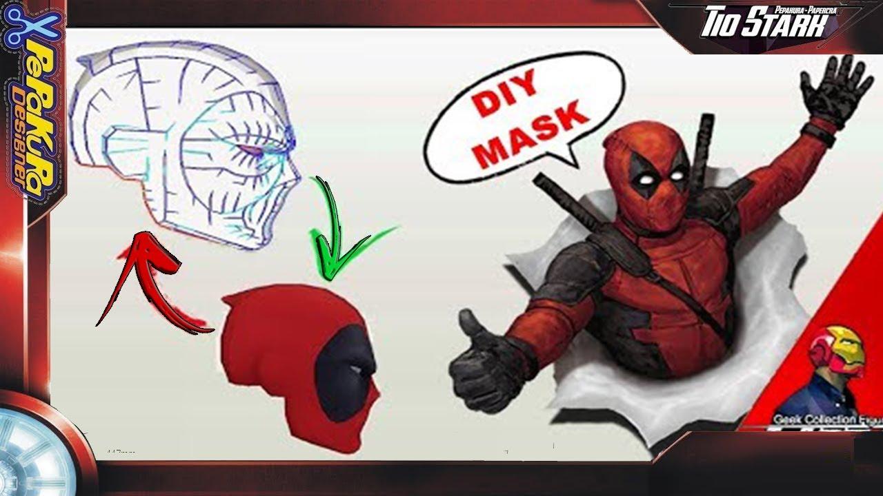 Como fazer mascara Deadpool part. 02/02 /#16 Tio Stark - Pepakura ...