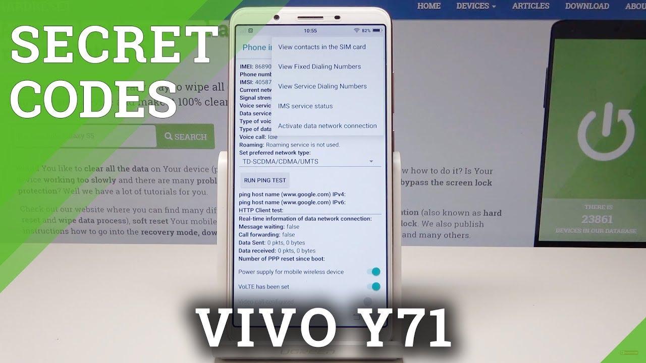 Secret Codes VIVO Y71 - Hidden Mode / Advanced Options