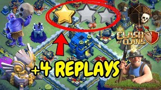 UNDEFEATABLE Th12 War Base 2018 Anti 2 Star With 4 Replays Anti Miner Anti Bowler Anti Queen Walk