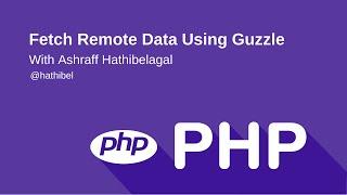 Fetch Remote Data using Guzzle