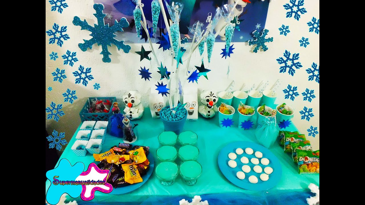 5 ideas para fiesta candybar de frozen supermanualidades - Decorar mesas para fiestas ...