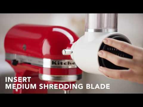 KITCHENAID 抬頭式多功能廚師機-切片/切絲器組合 (KSMVSA) 相關視頻