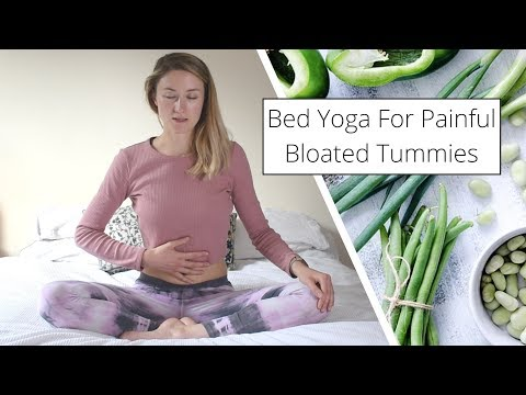 Bedtime Yoga For An Upset Tummy �� IBS Painful, IBS, Bloating,
