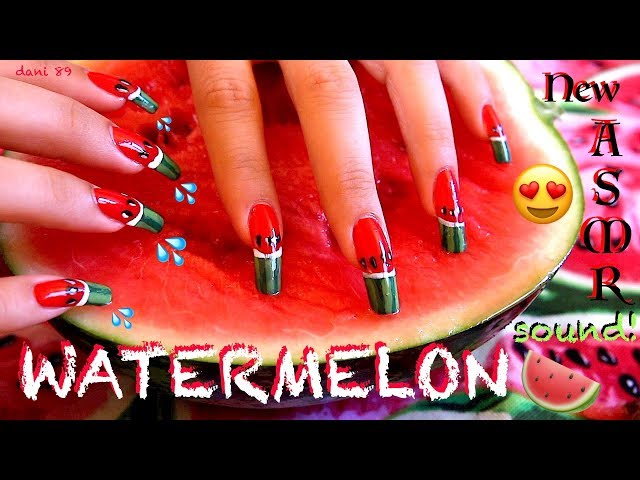 ???? ASMR: The most satisfying SCRATCHING WATERMELON ???? Super tingly and wet sounds! ????