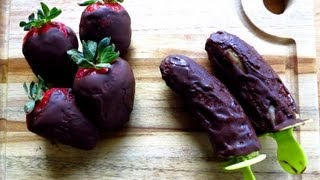Chocolate Covered Frozen Bananas Recipe -