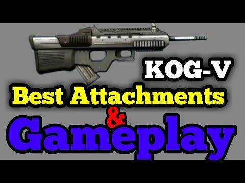 Modern combat 5 best Attachments For KOGV/KOG V in mc5 | Kog v Gameplay
