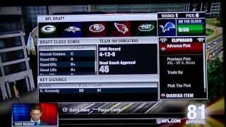 NFL Head Coach 09 - 2009 Draft part 1