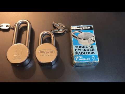 [340] American Lock Series HT-15 Tubular Core Padlock Picked