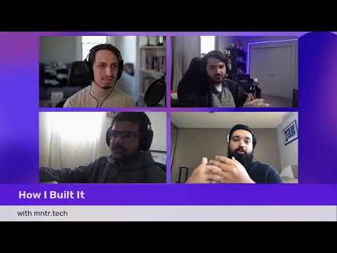 """How I Built It"" on CockroachDB. Live Interview with hackathon winners mntr.tech"